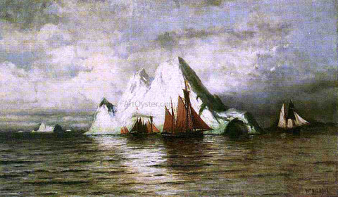 William Bradford Fishing Boats and Icebergs - Hand Painted Oil Painting