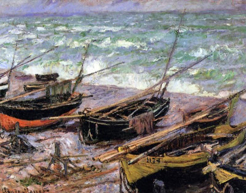 Claude Oscar Monet Fishing Boats - Hand Painted Oil Painting
