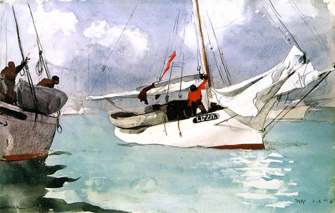 Winslow Homer A Fishing Boat, Key West - Hand Painted Oil Painting