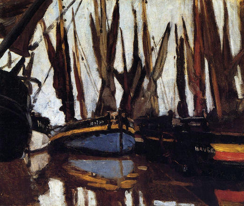 Claude Oscar Monet Fishing Boats (study) - Hand Painted Oil Painting