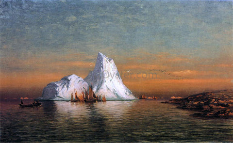William Bradford Fishing Fleet off Labrador - Hand Painted Oil Painting