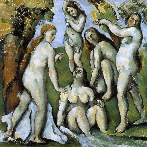 Paul Cezanne Five Bathers - Hand Painted Oil Painting