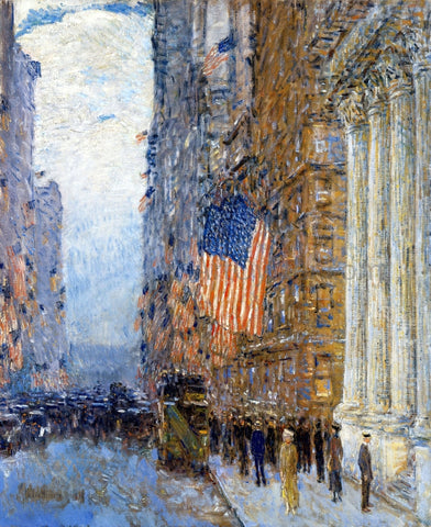 Frederick Childe Hassam Flags on the Waldorf - Hand Painted Oil Painting