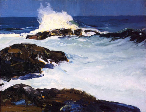 George Wesley Bellows Flaming Breakers - Hand Painted Oil Painting