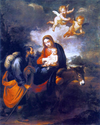 Bartolome Esteban Murillo A Flight into Egypt - Hand Painted Oil Painting
