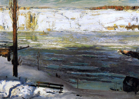 George Wesley Bellows Floating Ice - Hand Painted Oil Painting