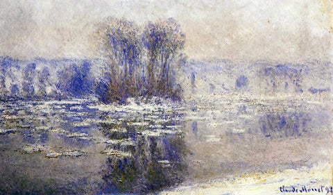 Claude Oscar Monet Floes at Bennecourt - Hand Painted Oil Painting