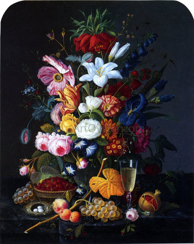 Severin Roesen Floral Still Life - Hand Painted Oil Painting