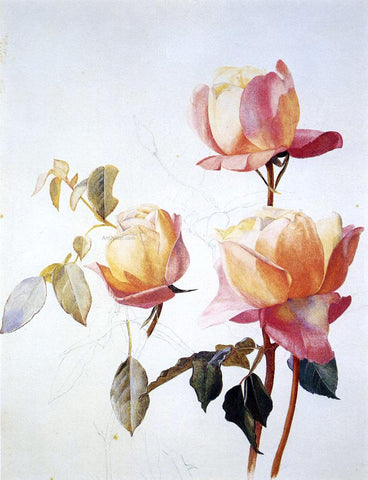 Henry Roderick Newman Florentine Roses - Hand Painted Oil Painting