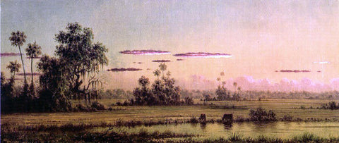 Martin Johnson Heade Florida Sunset with Two Cows - Hand Painted Oil Painting
