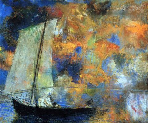 Odilon Redon Flower Clouds - Hand Painted Oil Painting