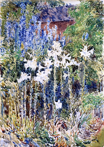Frederick Childe Hassam A Flower Garden - Hand Painted Oil Painting