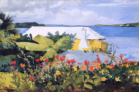 Winslow Homer A Flower Garden and Bungalow, Bermuda - Hand Painted Oil Painting