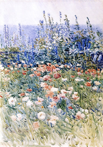 Frederick Childe Hassam Flower Garden, Isles of Shoals - Hand Painted Oil Painting