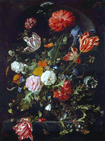 Jan Davidsz De Heem Flower Piece - Hand Painted Oil Painting
