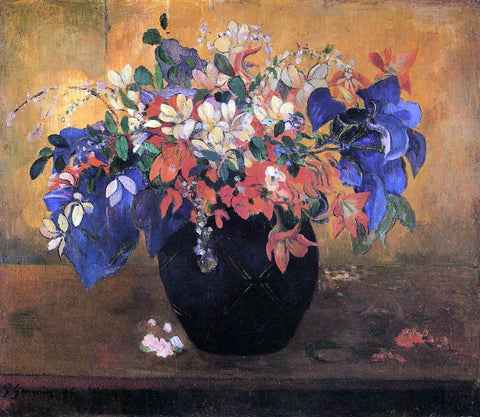 Paul Gauguin Flower Piece - Hand Painted Oil Painting