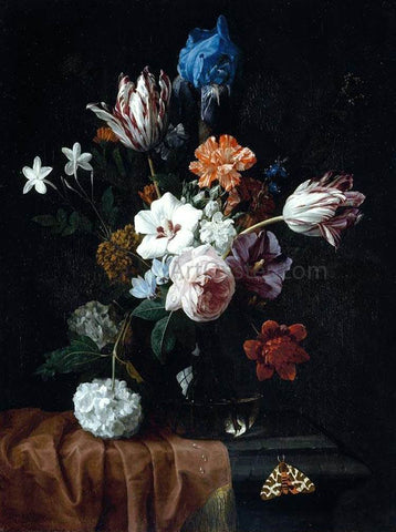 Nicolaes Van Veerendael Flower Still-Life - Hand Painted Oil Painting