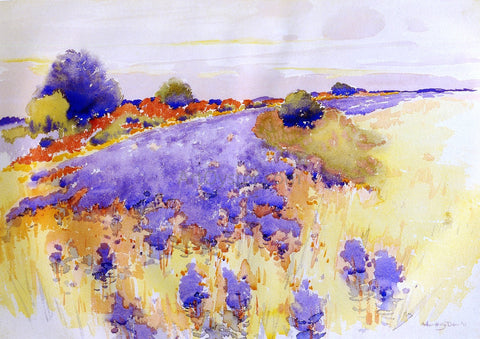 Arthur Wesley Dow Flowering Field - Hand Painted Oil Painting