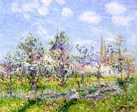 Gustave Loiseau Flowering Orchard, Spring - Hand Painted Oil Painting