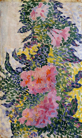Henri Edmond Cross Flowers - Hand Painted Oil Painting