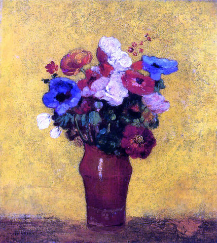 Odilon Redon Flowers - Hand Painted Oil Painting