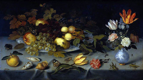 Balthasar Van der Ast Flowers and Fruit - Hand Painted Oil Painting