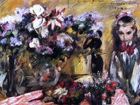 Lovis Corinth Flowers and Wilhelmine - Hand Painted Oil Painting