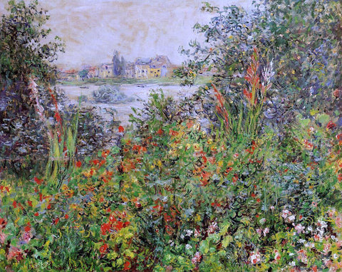Claude Oscar Monet Flowers at Vetheuil - Hand Painted Oil Painting
