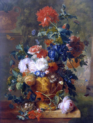 Jan Van Huysum Flowers - Hand Painted Oil Painting