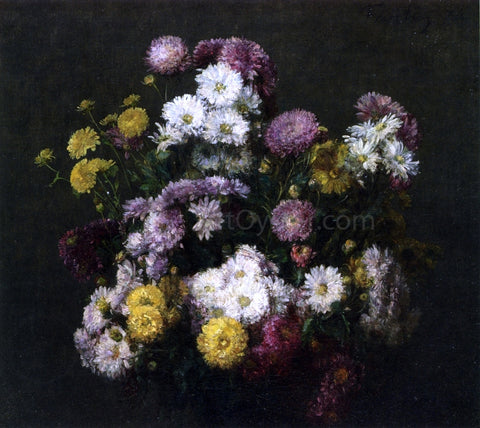 Henri Fantin-Latour Flowers, Chrysanthemums - Hand Painted Oil Painting