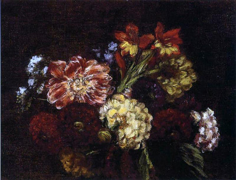 Henri Fantin-Latour Flowers: Dahlias and Gladiolas - Hand Painted Oil Painting