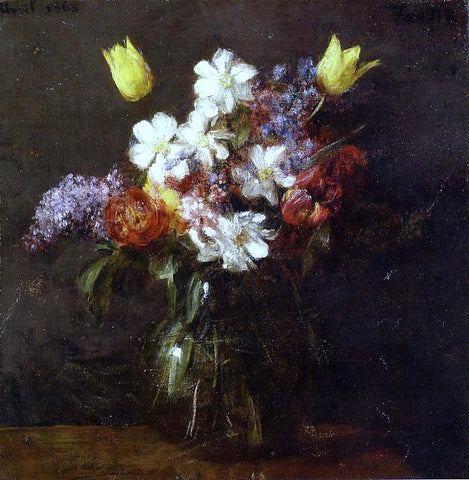 Henri Fantin-Latour Flowers - Hand Painted Oil Painting