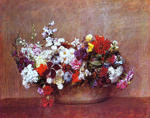 Henri Fantin-Latour Flowers in a Bowl - Hand Painted Oil Painting