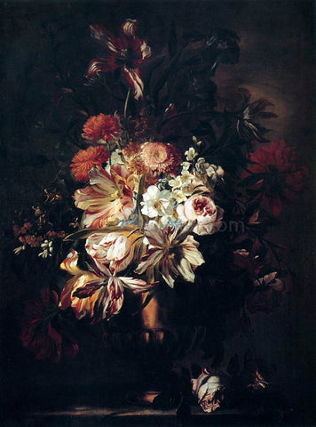 Abraham Brueghel Flowers in a Bronze Vase - Hand Painted Oil Painting