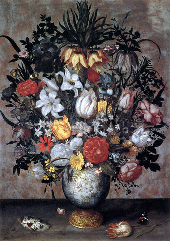 The Elder Ambrosius Bosschaert Flowers in a Chinese Vase - Hand Painted Oil Painting