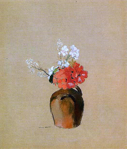 Odilon Redon Flowers in a Pot - Hand Painted Oil Painting