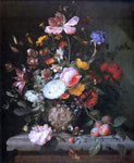 Jacob Van Walscapelle Flowers in a Stone Vase - Hand Painted Oil Painting