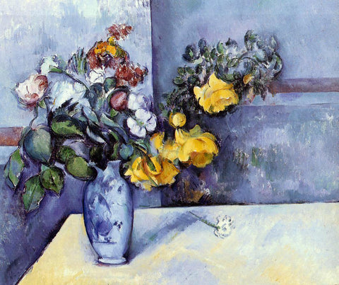 Paul Cezanne Flowers in a Vase - Hand Painted Oil Painting