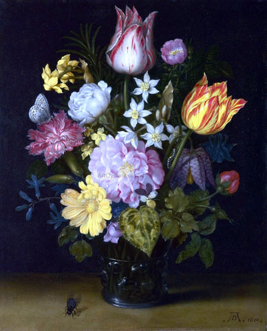 The Elder Ambrosius Bosschaert Flowers in a Vase - Hand Painted Oil Painting