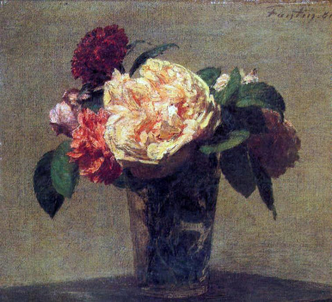 Henri Fantin-Latour Flowers in a Vase - Hand Painted Oil Painting