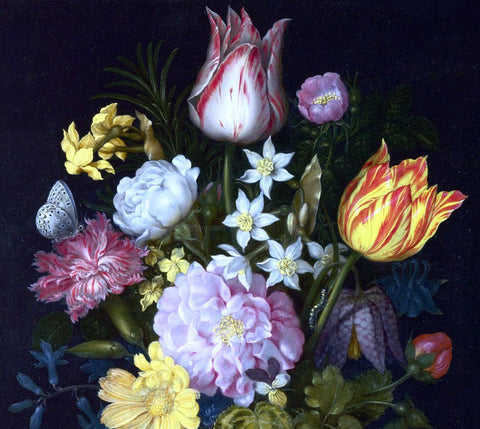 The Elder Ambrosius Bosschaert Flowers in a Vase [detail #1] - Hand Painted Oil Painting