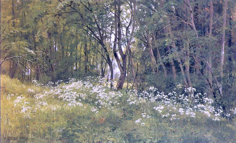 Ivan Ivanovich Shishkin Flowers on an Edge of a Wood - Hand Painted Oil Painting
