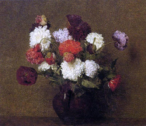 Henri Fantin-Latour Flowers: Poppies - Hand Painted Oil Painting