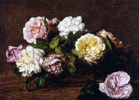 Henri Fantin-Latour Flowers: Roses - Hand Painted Oil Painting