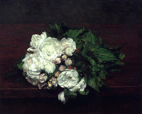 Henri Fantin-Latour Flowers, White Roses - Hand Painted Oil Painting