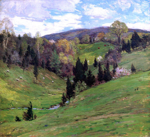 Willard Leroy Metcalf Flying Shadows - Hand Painted Oil Painting