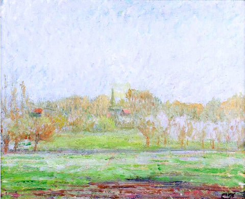 Camille Pissarro Fog in Eragny - Hand Painted Oil Painting