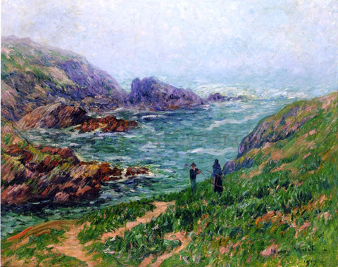 Henri Moret Foggy Weather, Brittany - Hand Painted Oil Painting
