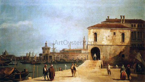 Canaletto Fonteghetto della Farina - Hand Painted Oil Painting