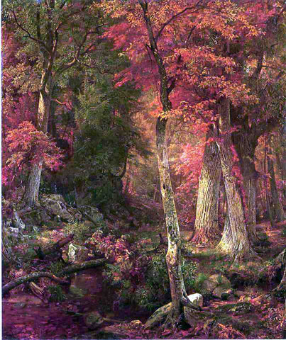 William Trost Richards Forest Interior in Autumn - Hand Painted Oil Painting